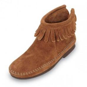 Minnetonka - Children's Back Zipper Boot Brown
