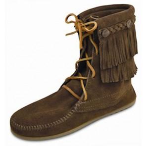 Minnetonka - Double Fringe Tramper Boot Dusty Brown