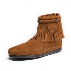 Minnetonka - Hi Top Back Zip Boot Brown